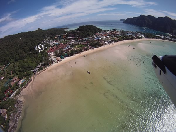 Blue View Divers - Koh Phi Phi Drone Bird Eye View