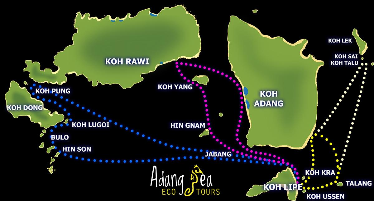 snorkeling map ko lipe