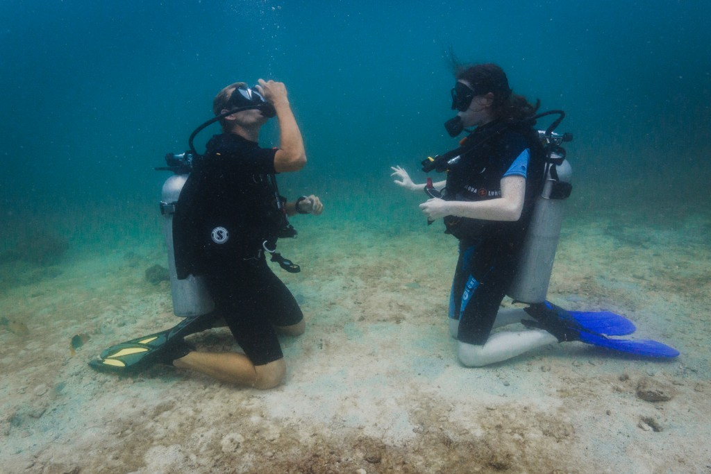 PADI Open Water Course dive mask skills koh lipe thailand