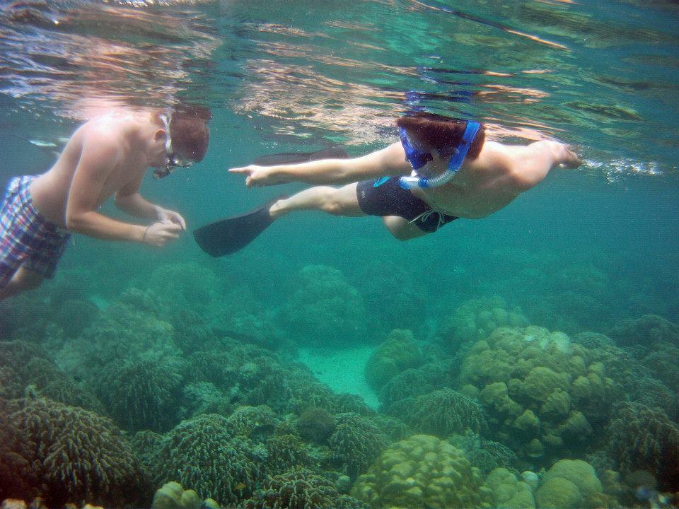Snorkelling over reefs Koh Lipe