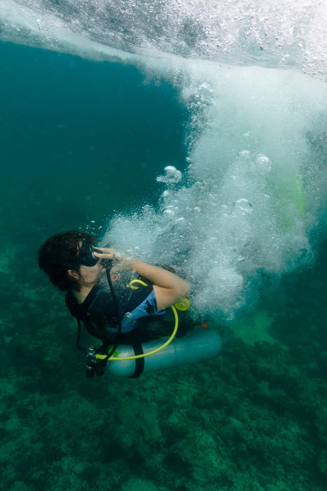 Backwards role in Andaman Sea Koh Lipe Thailand