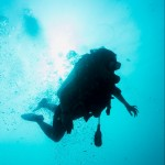 Diving in the blue Ko Lipe, Thailand